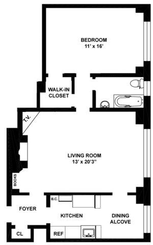 floorplan for 235 East 22nd Street #14K
