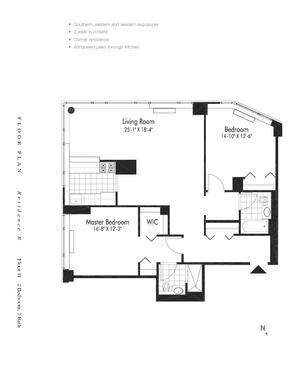 floorplan for 601 West 57th Street #11R