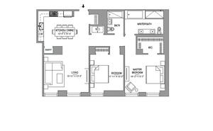 floorplan for 55 West 17th Street #203