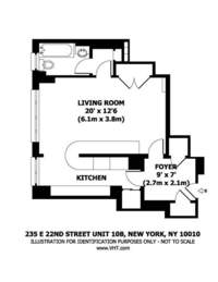 floorplan for 235 East 22nd Street #10B