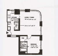 floorplan for 52 East End Avenue #5A