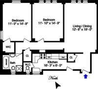 floorplan for 221 West 82nd Street #15A