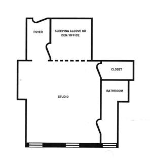floorplan for 49 West 72 #8DD