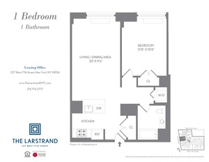floorplan for 227 West 77th Street , #14H