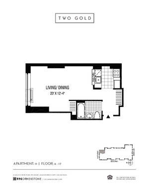 floorplan for 2 Gold Street #1711