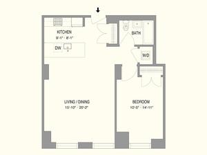 floorplan for 55 West 17th Street #202