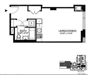 floorplan for 315 Gates Avenue #2D