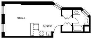 floorplan for 225 East 96th Street #2RE