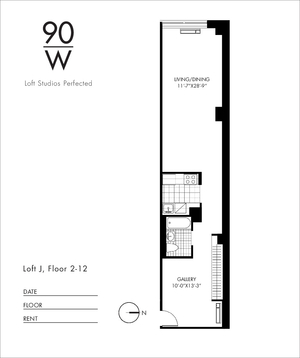 floorplan for 90 Washington Street #5J