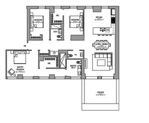 floorplan for 55 West 17th Street #1502