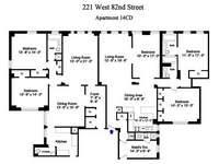 floorplan for 221 West 82nd Street #14CD