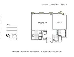 floorplan for 75 West Street #5J