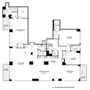 floorplan for 422 East 72nd Street #33DE