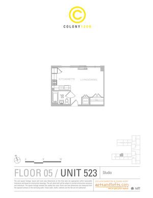 floorplan for 1209 Dekalb Avenue #523