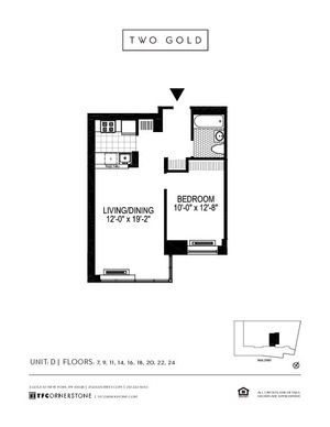 floorplan for 2 Gold Street #7D