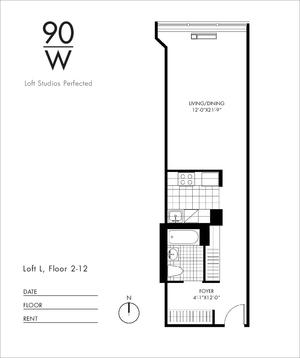 floorplan for 90 Washington Street #11L