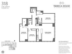 floorplan for 50 Murray Street #418