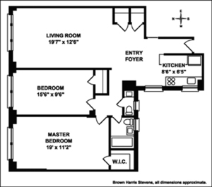 floorplan for 30 West 90th Street #4B