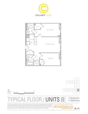 floorplan for 1209 Dekalb Avenue #316