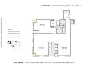 floorplan for 75 West Street #3A