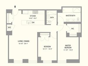 floorplan for 55 West 17th Street #503