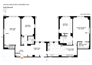 floorplan for 235 East 22nd Street #2GH