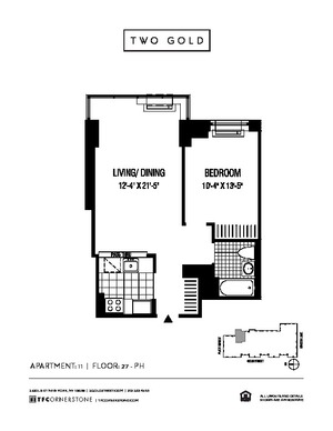 floorplan for 2 Gold Street #5011