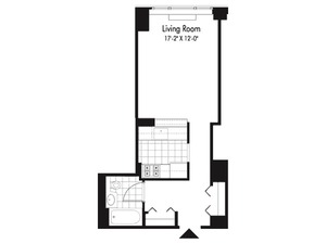 floorplan for 601 West 57th Street #28J