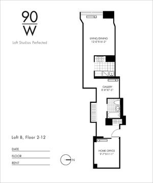 floorplan for 90 Washington Street #12B