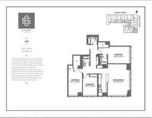 floorplan for 50 Murray Street #618