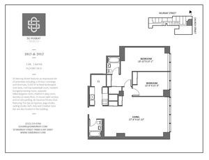floorplan for 50 Murray Street #2012