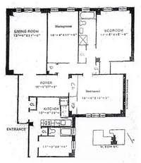floorplan for 221 West 82nd Street, Apt. 2D