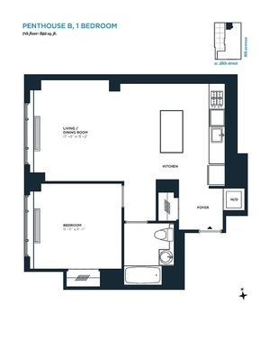 floorplan for 305 West 16th Street #PHB
