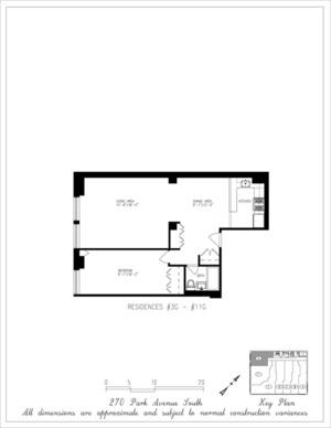 floorplan for 270 Park Avenue South #5G