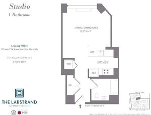 floorplan for 227 West 77th Street #8M