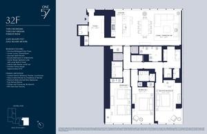 floorplan for 157 West 57th Street #32F
