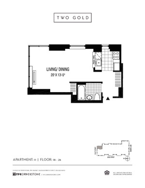 floorplan for 2 Gold Street #1811