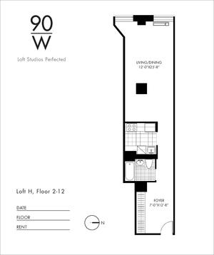 floorplan for 90 Washington Street #2H