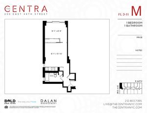 floorplan for 230 East 44th Street #10M