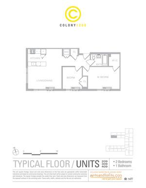 floorplan for 1209 Dekalb Avenue #2409