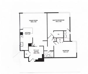 floorplan for 715 Park Avenue #4D