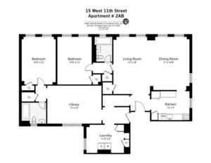 floorplan for 15 West 11th Street #2AB