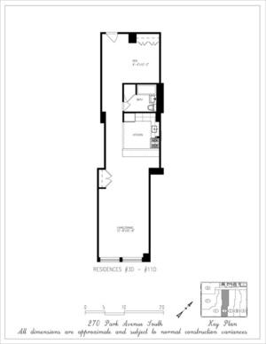 floorplan for 270 Park Avenue South #8D