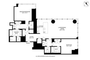 floorplan for 157 West 57th Street #41B