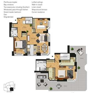 floorplan for 345 East 94th Street #PHC
