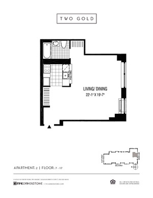 floorplan for 2 Gold Street #1702
