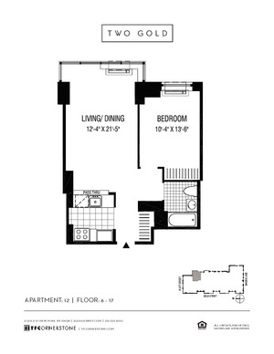 floorplan for 2 Gold Street #1712