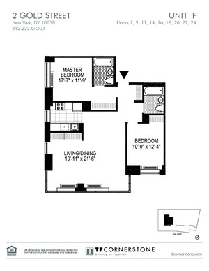 floorplan for 2 Gold Street #9F