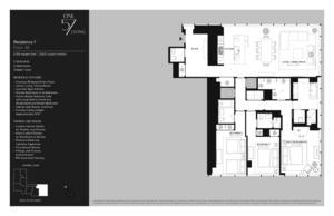 floorplan for 157 West 57th Street #38F