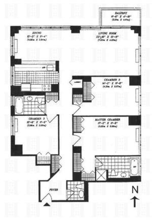 floorplan for 422 East 72nd Street #33A
